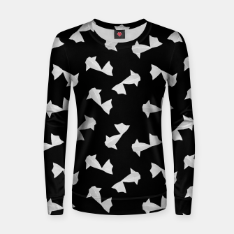 Thumbnail image of White Origami Fish Pattern Frauen sweatshirt, Live Heroes