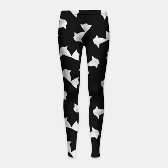 Thumbnail image of White Origami Fish Pattern Kinder-Leggins, Live Heroes