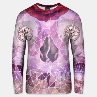 Diamond Rose Skull Unisex sweater thumbnail image