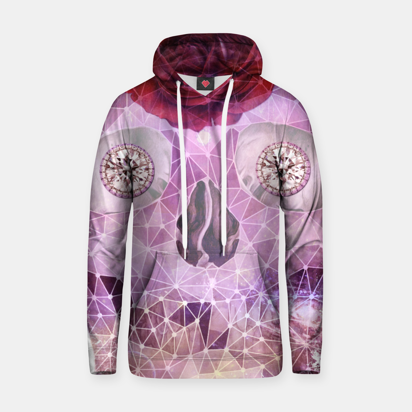Image of Diamond Rose Skull Hoodie - Live Heroes