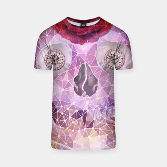 Thumbnail image of Diamond Rose Skull T-shirt, Live Heroes