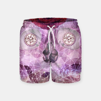 Diamond Rose Skull Swim Shorts thumbnail image