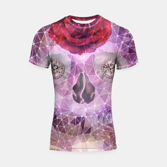 Thumbnail image of Diamond Rose Skull Shortsleeve rashguard, Live Heroes