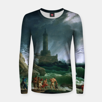 Thumbnail image of A Storm on a Mediterranean Coast by Claude Joseph Vernet Women sweater, Live Heroes