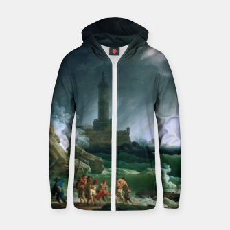 Thumbnail image of A Storm on a Mediterranean Coast by Claude Joseph Vernet Zip up hoodie, Live Heroes
