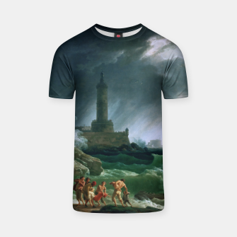 Thumbnail image of A Storm on a Mediterranean Coast by Claude Joseph Vernet T-shirt, Live Heroes
