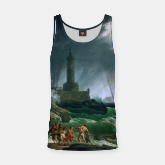Thumbnail image of A Storm on a Mediterranean Coast by Claude Joseph Vernet Tank Top, Live Heroes