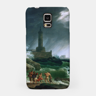 Thumbnail image of A Storm on a Mediterranean Coast by Claude Joseph Vernet Samsung Case, Live Heroes