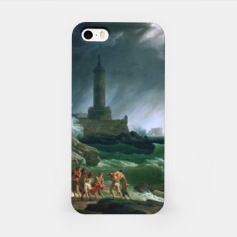 Thumbnail image of A Storm on a Mediterranean Coast by Claude Joseph Vernet iPhone Case, Live Heroes