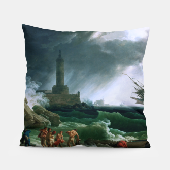 Thumbnail image of A Storm on a Mediterranean Coast by Claude Joseph Vernet Pillow, Live Heroes