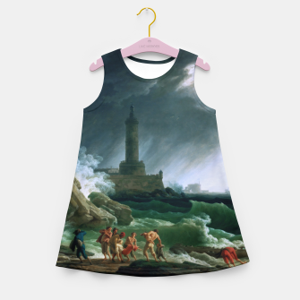 Thumbnail image of A Storm on a Mediterranean Coast by Claude Joseph Vernet Girl's summer dress, Live Heroes