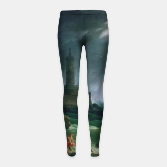 Thumbnail image of A Storm on a Mediterranean Coast by Claude Joseph Vernet Girl's leggings, Live Heroes