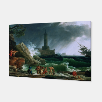 Thumbnail image of A Storm on a Mediterranean Coast by Claude Joseph Vernet Canvas, Live Heroes