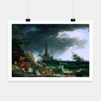 Thumbnail image of A Storm on a Mediterranean Coast by Claude Joseph Vernet Poster, Live Heroes