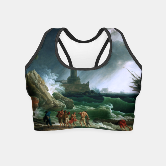 Thumbnail image of A Storm on a Mediterranean Coast by Claude Joseph Vernet Crop Top, Live Heroes