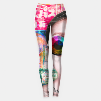 Thumbnail image of pink tokyo lady Leggings, Live Heroes