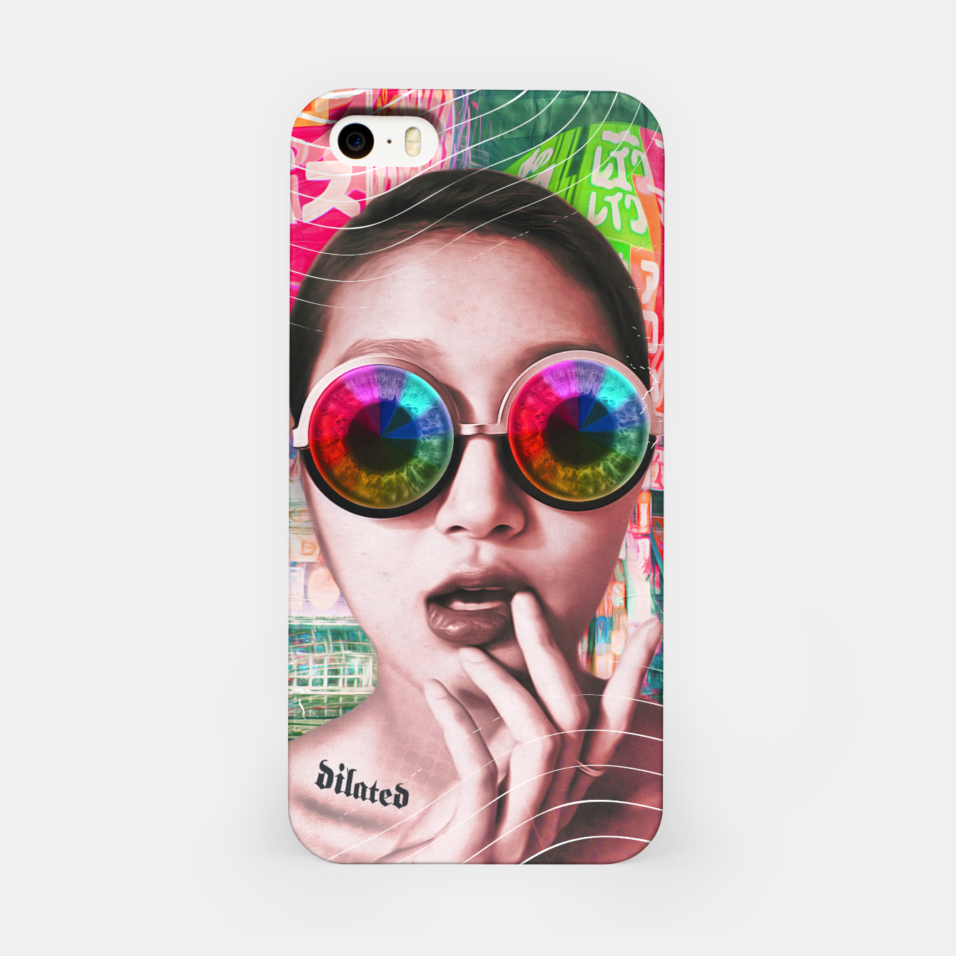 Image of pink tokyo lady iPhone Case - Live Heroes