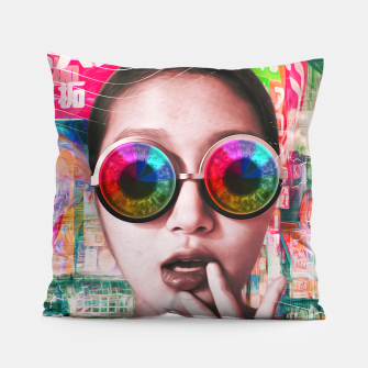 Thumbnail image of pink tokyo lady Pillow, Live Heroes