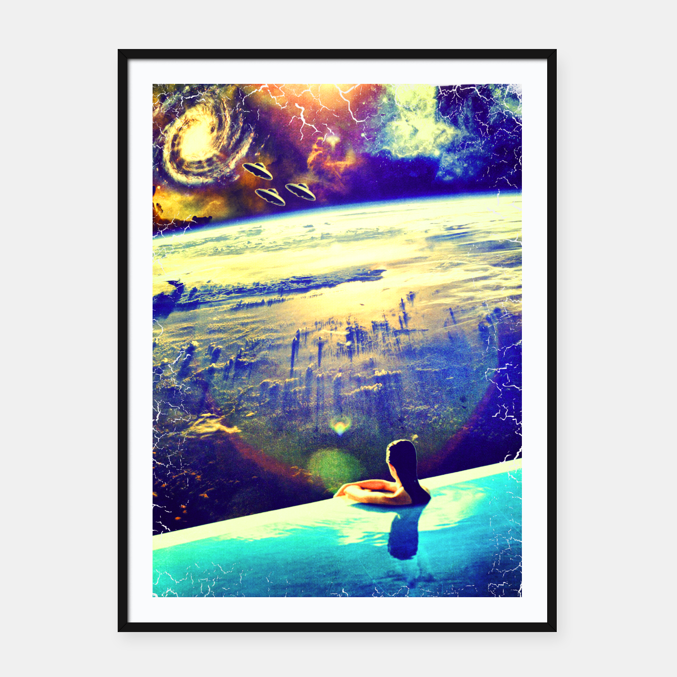 Image of spacedive Framed poster - Live Heroes