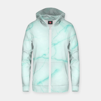 Thumbnail image of Turquoise marble Zip up hoodie, Live Heroes