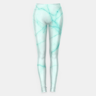 Thumbnail image of Turquoise marble Leggings, Live Heroes