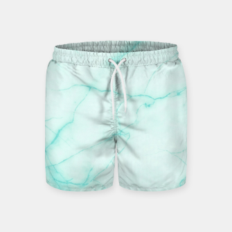Thumbnail image of Turquoise marble Swim Shorts, Live Heroes