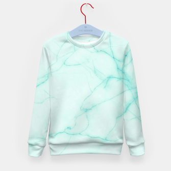 Thumbnail image of Turquoise marble Kid's sweater, Live Heroes