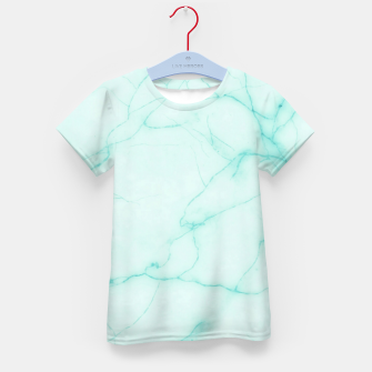 Thumbnail image of Turquoise marble Kid's t-shirt, Live Heroes