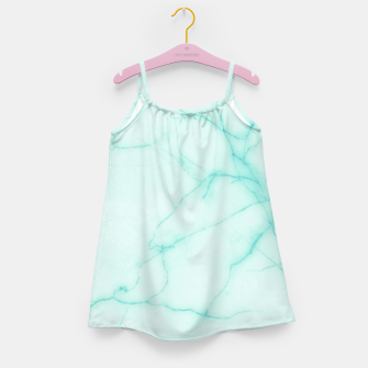 Thumbnail image of Turquoise marble Girl's dress, Live Heroes