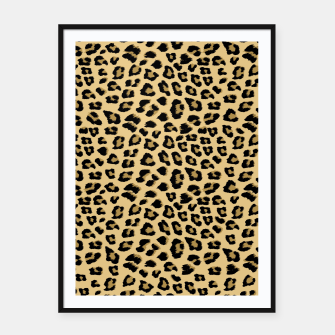 Thumbnail image of Cute Leopard Animal Print Pattern Framed poster, Live Heroes