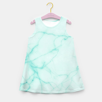 Thumbnail image of Turquoise marble Girl's summer dress, Live Heroes