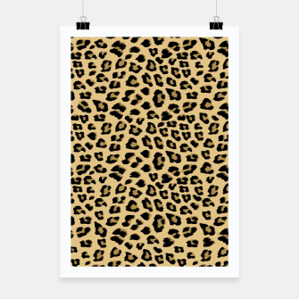 Thumbnail image of Cute Leopard Animal Print Pattern Poster, Live Heroes
