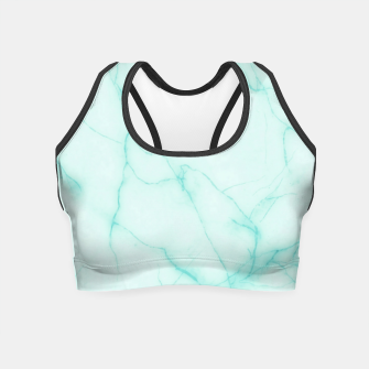 Thumbnail image of Turquoise marble Crop Top, Live Heroes