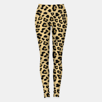 Thumbnail image of Cute Leopard Animal Print Pattern Leggings, Live Heroes