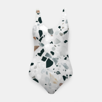 Miniatur Modern Abstract Terrazzo Pattern Swimsuit, Live Heroes
