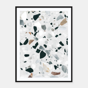 Miniatur Modern Abstract Terrazzo Pattern Framed poster, Live Heroes