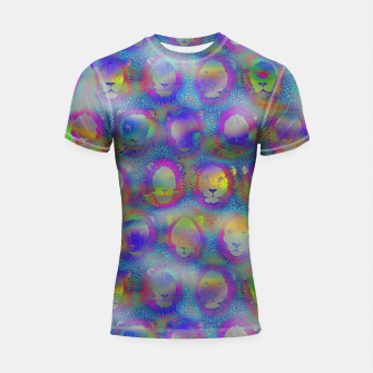 Thumbnail image of Camelot - Psychedelic Lions Shortsleeve rashguard, Live Heroes
