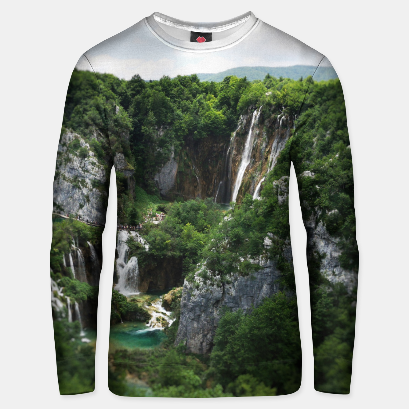 Image of veliki slap waterfall 1 plitvice lakes national park croatia bokeh Unisex sweater - Live Heroes
