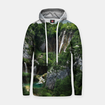 veliki slap waterfall 1 plitvice lakes national park croatia bokeh Hoodie thumbnail image
