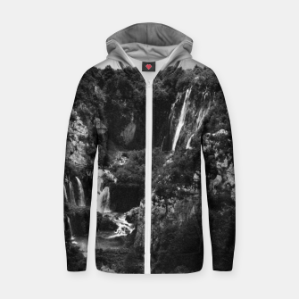 Miniaturka veliki slap waterfall 1 plitvice lakes national park croatia bw vintage Zip up hoodie, Live Heroes