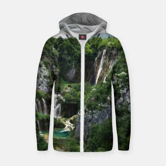 veliki slap waterfall 1 plitvice lakes national park croatia bokeh Zip up hoodie thumbnail image