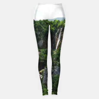 veliki slap waterfall 1 plitvice lakes national park croatia bokeh Leggings thumbnail image