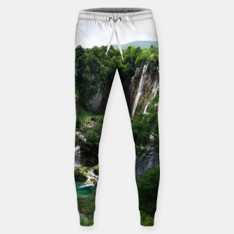 veliki slap waterfall 1 plitvice lakes national park croatia bokeh Sweatpants thumbnail image