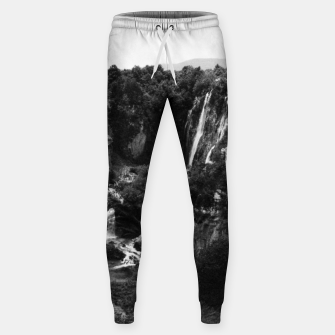 Miniaturka veliki slap waterfall 1 plitvice lakes national park croatia bw vintage Sweatpants, Live Heroes