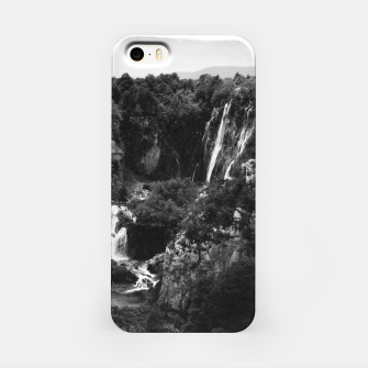 Miniaturka veliki slap waterfall 1 plitvice lakes national park croatia bw vintage iPhone Case, Live Heroes