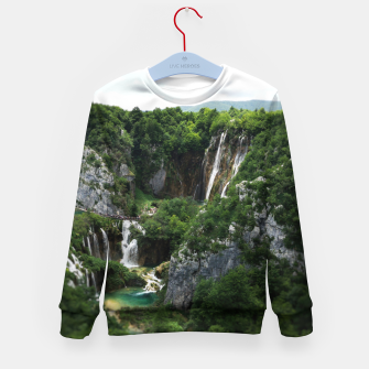 veliki slap waterfall 1 plitvice lakes national park croatia bokeh Kid's sweater thumbnail image