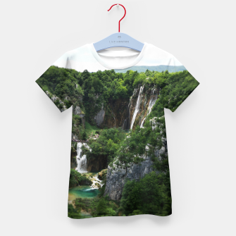 veliki slap waterfall 1 plitvice lakes national park croatia bokeh Kid's t-shirt thumbnail image