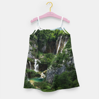 veliki slap waterfall 1 plitvice lakes national park croatia bokeh Girl's dress thumbnail image