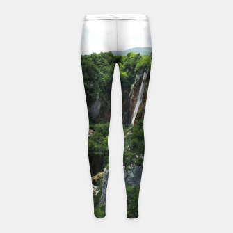 veliki slap waterfall 1 plitvice lakes national park croatia bokeh Girl's leggings thumbnail image
