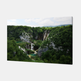 veliki slap waterfall 1 plitvice lakes national park croatia bokeh Canvas thumbnail image